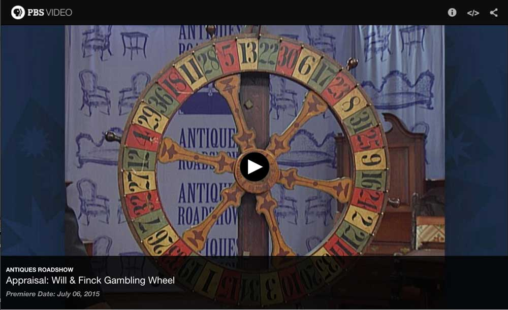 Will & Finck Gambling Wheel