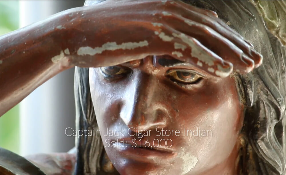 Captain Jack Cigar Store Indian