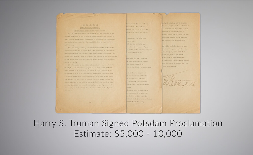 Truman signed Potsdam Proclamation