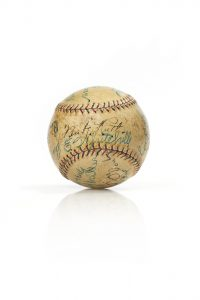 1920's era signed baseball