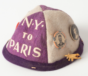 child's beanie cap with Lindbergh buttons