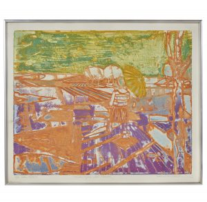 Roland Petersen viscosity color etching on paper