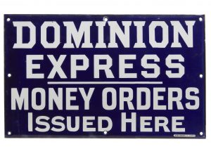 Dominion Express sign