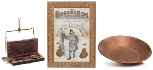 mining scales, Klondike News, and a gold pan
